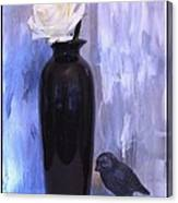 Birdie And The Rose Canvas Print