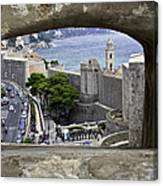Bird's Eye View Of Dubrovnik Canvas Print
