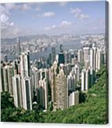 Birds Eye View Over Hong Kong Canvas Print
