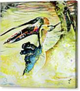Birds Love Dance Canvas Print
