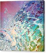 Birth Of Aphrodite From The Sea Foam Canvas Print