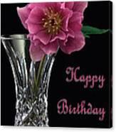 Birthday Vase Canvas Print