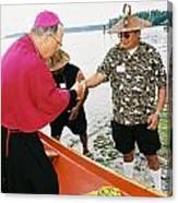 Bishop Arrives Canvas Print