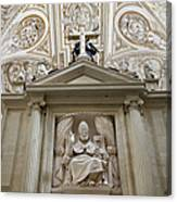 Bishop Sculpture In Cordoba Cathedral Canvas Print