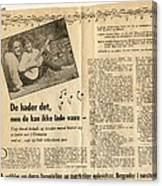 Bits From Danish Article From The Fifties Canvas Print