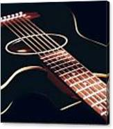 Black Acoustic Guitar Canvas Print