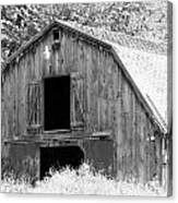 Black And White Barn Canvas Print