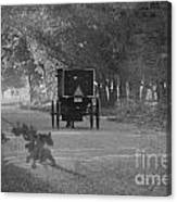 Black And White Buggy Canvas Print