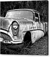 Black And White Buick Canvas Print