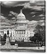 Black And White Capitol Canvas Print