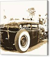 Black And White Hot Rod Canvas Print