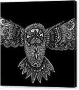 Black And White Owl Canvas Print