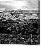 Black And White Painted Hills Canvas Print