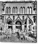 Black And White Patio Canvas Print