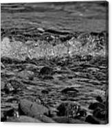 Black And White Shore Canvas Print