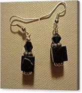 Black Cube Drop Earrings Canvas Print