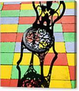 Black Iron Chair Canvas Print