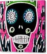 Black King Sugar Skull Angel Canvas Print