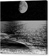Black Night At The Shore Canvas Print