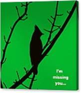 Black  On Green Canvas Print