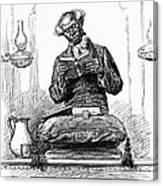 Black Preacher, 1890 Canvas Print