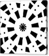 Black Spirale Canvas Print