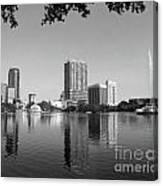 Black White Orlando Canvas Print