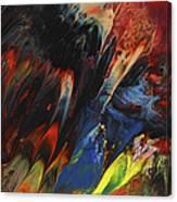 Blackbird Rainbow Blitz Canvas Print