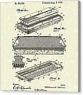 Blackboard Eraser 1893 Patent Art Canvas Print