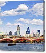 Blackfriars Bridge With London Skyline Canvas Print