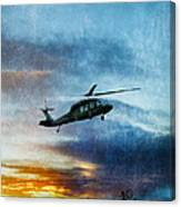 Blackhawk Helicopter Canvas Print
