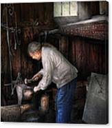 Blacksmith - Tinkering With Metal  Canvas Print