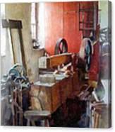 Blacksmith Shop Near Windows Canvas Print