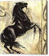 Blacky Canvas Print