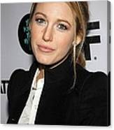 Blake Lively At Arrivals For You Know Canvas Print
