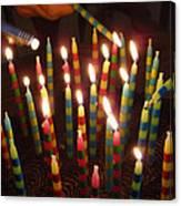 Blazing Amazing Birthday Candles Canvas Print