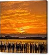 Blazing Humboldt Bay Sunset Canvas Print