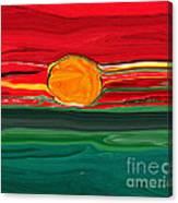 Blazing Red Sky Canvas Print