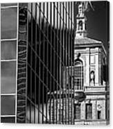 Blending Architecture Black And White Canvas Print