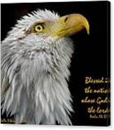 Blessed Is The Nation Canvas Print