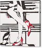 Blind Cat Shoes Canvas Print