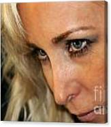 Blond Woman Strict Canvas Print