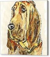 Bloodhound-watercolor Canvas Print