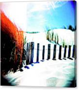 Blue - White - Red Canvas Print