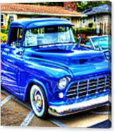 Blue 1956 Chevy Pickup Canvas Print