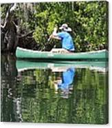 Blue Amongst The Greens - Canoeing On The St. Marks Canvas Print
