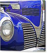 Blue And Chrome Nose Canvas Print
