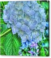 Blue And Green Flora Canvas Print