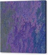 Blue And Purple Stone Abstract Canvas Print