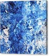 Ocean - Blue Abstract Art Paintingi Canvas Print